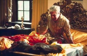 horse head scene from The Godfather, blood and horror, make an offer he can't refuse