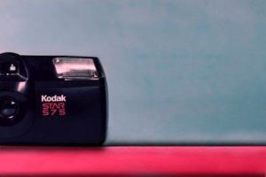 Kodak star 575 camera, moment, blue and red, US election 2020